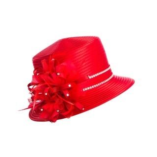 Giovanna Signature Women's Rhinestone Strip Ribbon Hat