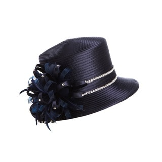 Giovanna Signature Women's Rhinestone Strip Ribbon Hat