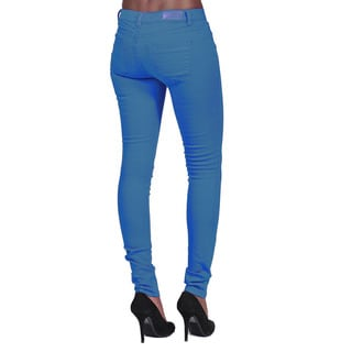C'est Toi Women's Marine Blue Denim 4-pocket Skinny Jeans