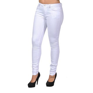 C'est Toi White Denim 4-pocket Skinny Jeans