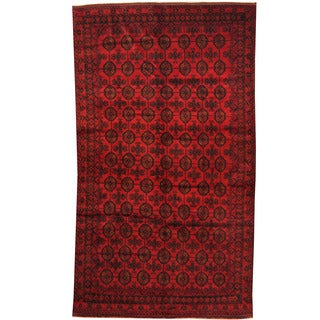 Herat Oriental Afghan Hand-knotted 1960s Semi-antique Tribal Balouchi Wool Rug (6'1 x 10'10)