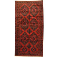 Herat Oriental Afghan Hand-knotted 1950s Semi-antique Tribal Balouchi Wool Rug (6'6 x 12'7)