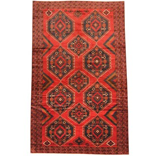 Herat Oriental Afghan Hand-knotted 1950s Semi-antique Tribal Balouchi Wool Rug (7'6 x 12') - 7'6 x 12'