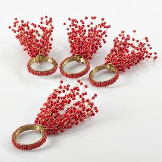Beaded Design Napkin Ring (Set of 4)