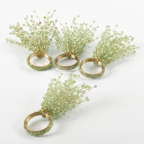 Beaded Spray Design Napkin Ring (Set of 4)