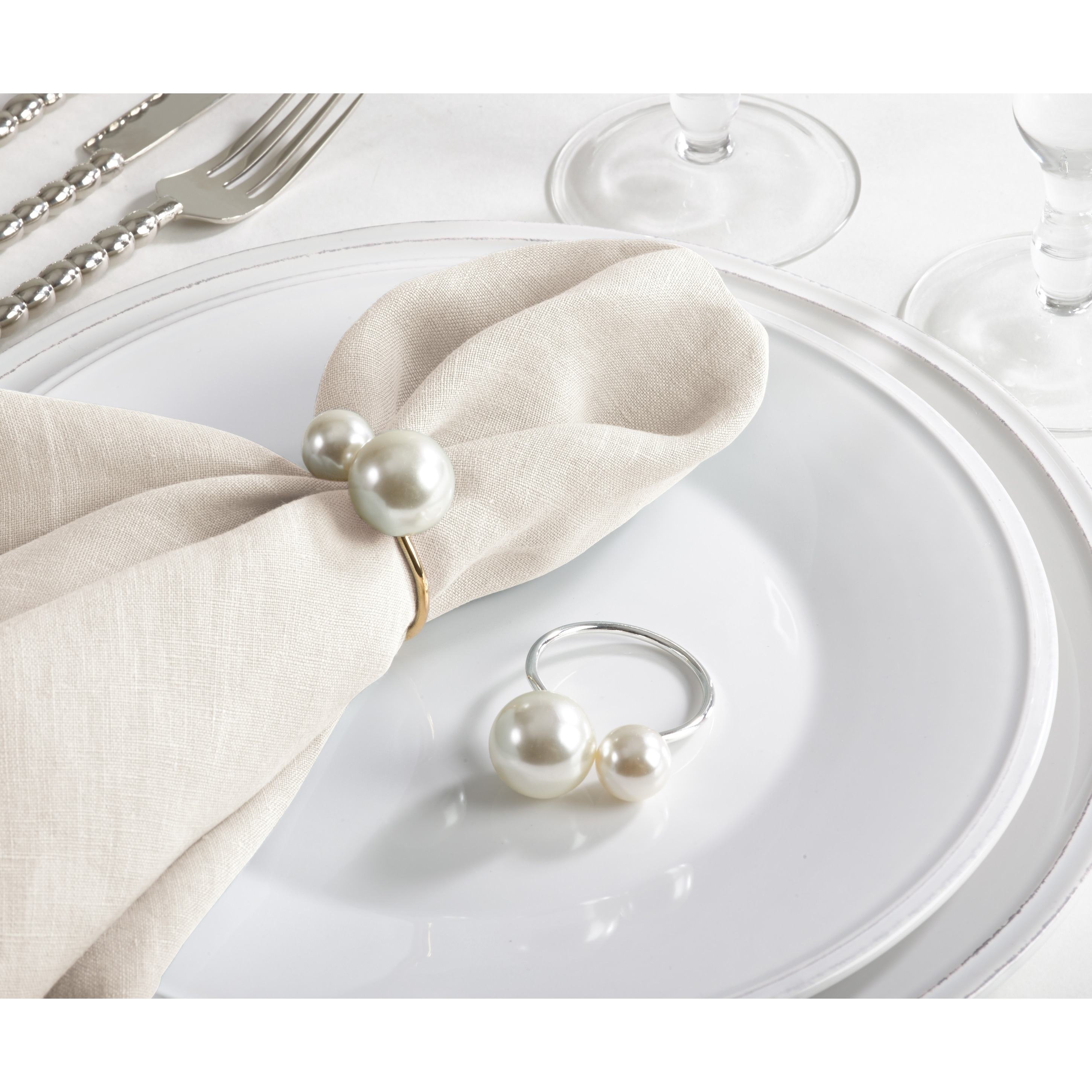Napkin Rings Napkin Ring Artificial Pearl Napkin Buckle Metal Napkin Holder For Wedding Hotel Dinning Table Decoration Home Hyundai Lighting Com Mk