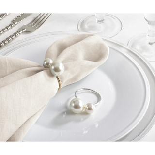 Faux Pearl Napkin Ring (Set of 4)