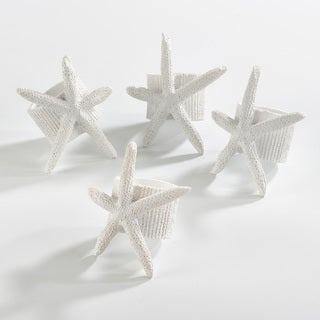 Neptune Collection Starfish Napkin Ring (Set of 4)