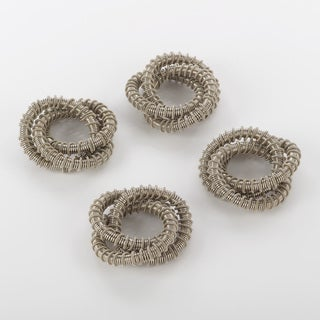 Napkin Ring Collection Three Ring Design Napkin Ring (Set of 4)