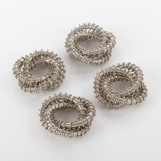 Napkin Ring Collection Three Ring Design Napkin Ring (Set of 4)