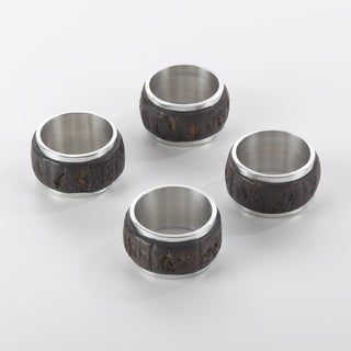 Menagere de fete Bark Wood Napkin Ring (Set of 4)