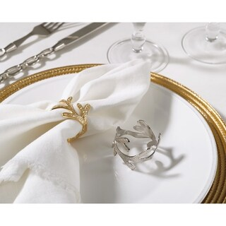 Vine Design Napkin Ring Vine Napkin Ring (Set of 4) (Option: Gold)