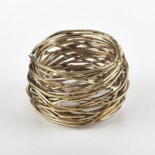 Metal Design Metal Design Napkin Ring (Set of 4) (Option: Gold)