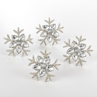 Napkin Ring Collection Snowflake Design Napkin Ring (Set of 4)