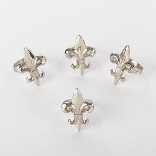 Napkin Ring Collection Fleur De Lis Napkin Ring (Set of 4)