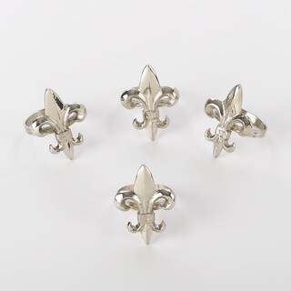 Fleur-de-Lis Napkin Ring (Set of 4)