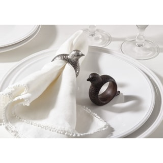 Quail Napkin Ring Quail Design Napkin Ring (Set of 4)