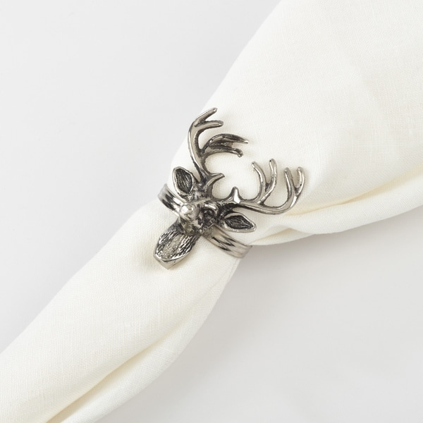 Reindeer Design Napkin Ring (Set of 4)