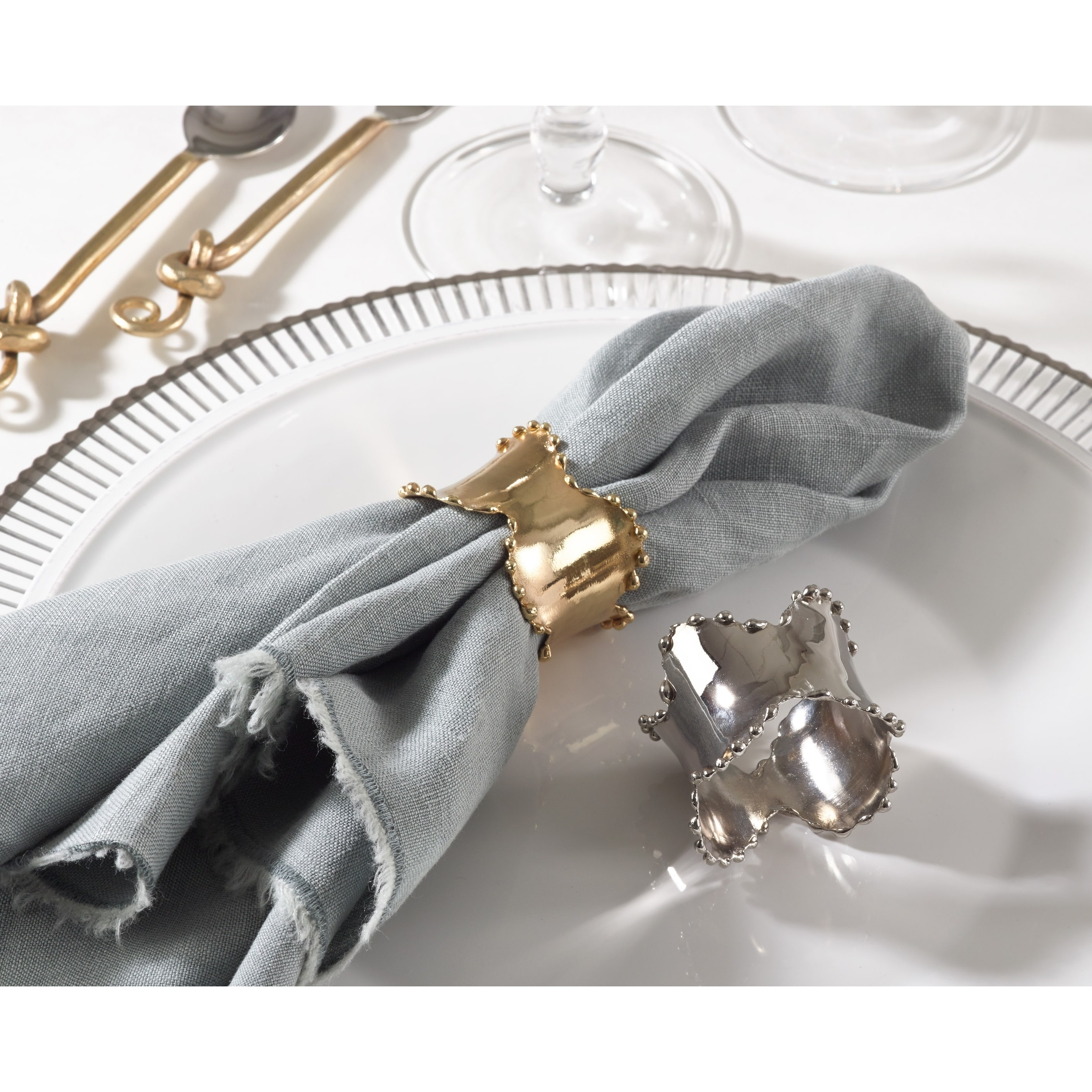Napkin Rings Handmade Products Set Of 4 Napkin Rings Purple Flower Rustic Napkin Rings Modern Napkin Holders