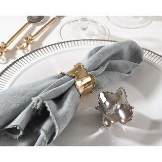 Napkin Ring Collection Classic Design Napkin Ring (Set of 4) (Option: Gold)