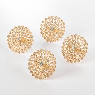 Napkin Ring Collection Starburst Napkin Ring (Set of 4) (Option: GOLD)
