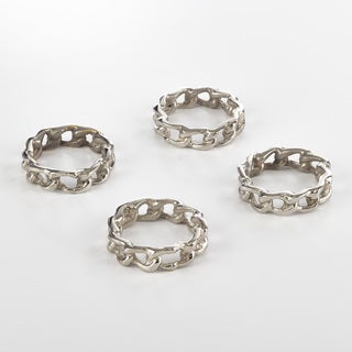 Catena Collection Chain Design Napkin Ring (Set of 4)