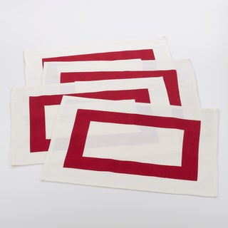 Bisciola Collection Banded Design Placemat (Set of 4)