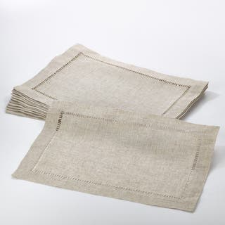 Toscana Collection Hemstitched Placemat (Set of 12)|https://ak1.ostkcdn.com/images/products/12425594/P19242699.jpg?impolicy=medium