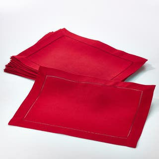 Rochester Collection Placemat with Hemstitched Border (Set of 12)|https://ak1.ostkcdn.com/images/products/12425598/P19242704.jpg?impolicy=medium