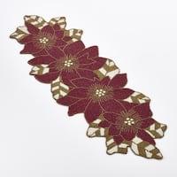 Poinsettia Design Beaded Poinsettia Runner