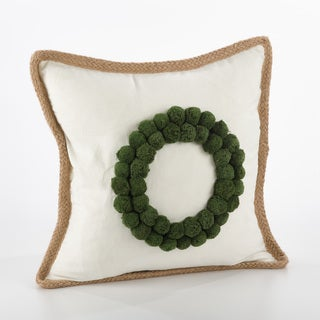 Ricamato Design Wreath Design Throw Pillow - FLD