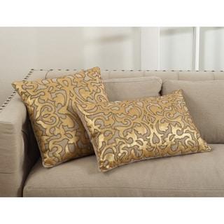 Aura Collection Applique Beaded Throw Pillow