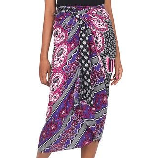 Handcrafted Rayon Batik 'Elephant Dream' Sarong (Indonesia)