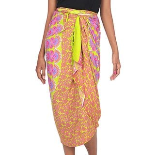 Handcrafted Rayon 'Warm Sunshine' Sarong (Indonesia)