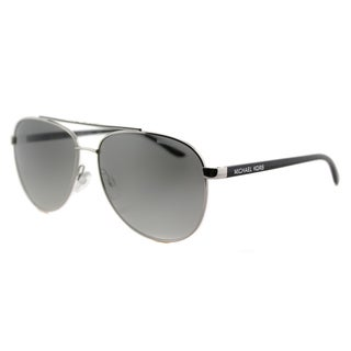 Michael Kors MK 5007 104211 Hvar Silver Metal Aviator Grey Gradient Lens Sunglasses