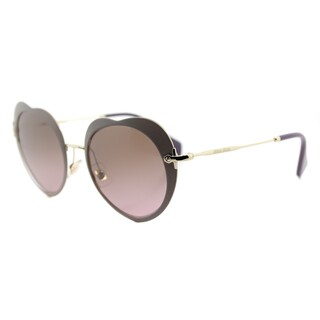Miu Miu MU 54RS U6H5P1 The Collection Miu Miu Matte Beige Metal Fashion Violet Gradient Lens Sunglasses