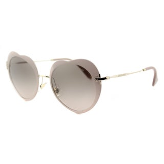 Miu Miu MU 54RS U6I3D0 The Collection Miu Miu Matte Pink Metal Fashion Light Grey Gradient Lens Sunglasses