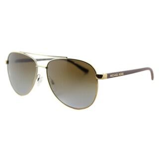 Michael Kors MK 5007 1043T5 Hvar Gold Metal Aviator Brown Gradient Polarized Lens Sunglasses
