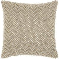Mina Victory Luster Diamond Chevron Ivory 12 x 12-inch Throw Pillow by Nourison