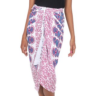 Handcrafted Rayon 'Bright Sunshine' Sarong (Indonesia)