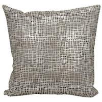 Mina Victory Natural Hide Sitara Laser Cut Silver/ White 18 x 18-inch Throw Pillow by Nourison