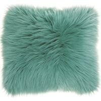 Mina Victory Faux Fur Celadon 22-inch Throw Pillow by Nourison