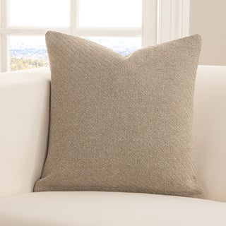 SIScovers Earthy Toss Tan Cotton/Polyester Throw Pillow with Removable Sham