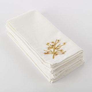 Nadalin Collection Beaded Xmas Tree Napkin (Set of 4)