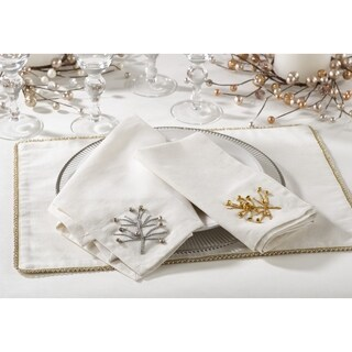 Nadalin Collection Beaded Christmas Tree Napkin (Set of 4)