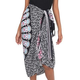 Handcrafted Rayon 'Bright Night' Sarong (Indonesia)