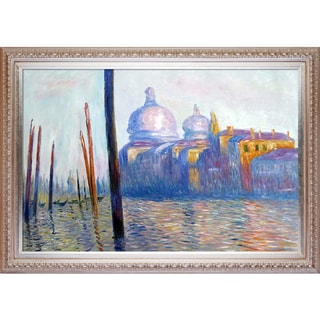 Claude Monet 'The Grand Canal, Venice' Hand Painted Framed Canvas Art