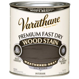 Varathane 269394 1 Qt. Weathered Gray Fast Dry Wood Stain