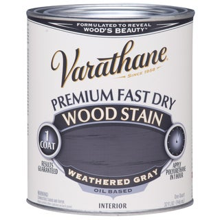 Varathane 269398 1/2 Pint Weathered Gray Fast Dry Wood Stain