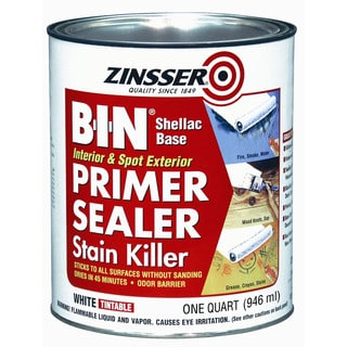 Zinsser 00904 1 Quart B-I-N Shellac Base Primer & Sealer Stain Killer